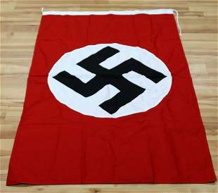 WWII GERMAN THIRD REICH NSDAP PARTY BANNER FLAG