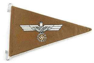 WWII GERMAN THIRD REICH AFRIKA KORPS ARMY PENNANT