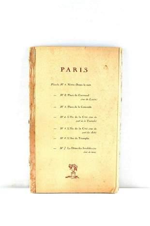BOOK SET OF 7 PARIS PRINTS LOUVRE TOURNELLE
