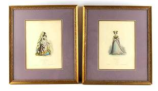 PAUQUET HIPPOLYTE FRENCH HAND COLORED ETCHINGs
