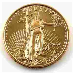 2016 1/10 OZ  AMERICAN GOLD EAGLE COIN BU