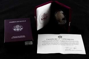 1991 S AMERICAN EAGLE 1 OZ SILVER PROOF COIN