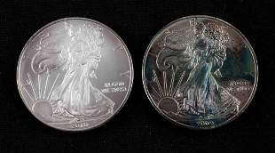 RAINBOW TONED 2009 AMERICAN EAGLE 1 OZ SILVER COIN