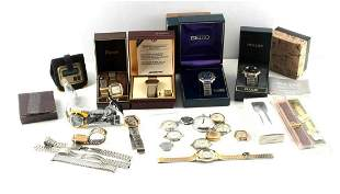 LOT OF VINTAGE ASSORTED WRISTWATCHES & PARTS