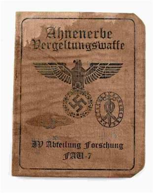 WWII GERMAN THIRD REICH AUSWEIS ID BOOK LUFTWAFFE