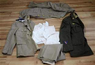 WWII US MILITARY NAVY UNIFORM TUNIC SMOCK LOT