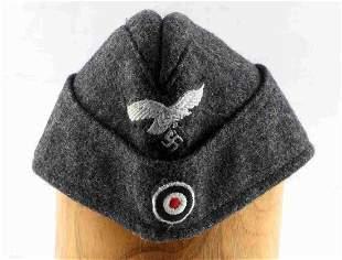 WWII GERMAN THIRD REICH WOOL LUFTWAFFE SIDE CAP