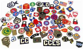 OVER 30 MISCELLANEOUS WWII U.S. MILITARY PATCHES