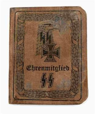 WWII GERMAN THIRD REICH SS HITLER AUSWEIS ID BOOK