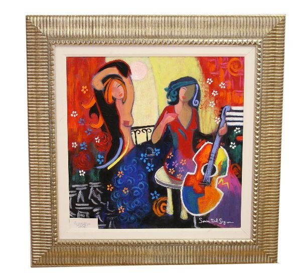 ARTIST'S LIFE SONIA DEL SIGNORE GICLEE ON CANVAS