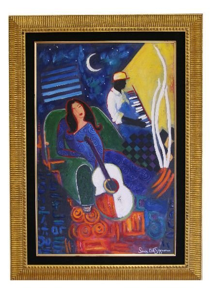 JAZZ CLUB SONIA DEL SIGNORE GICLEE ON CANVAS