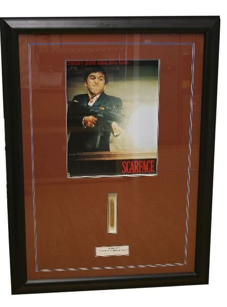 SCARFACE EVERY DOG HAS HIS DAY POSTER FRAMED CIGAR
