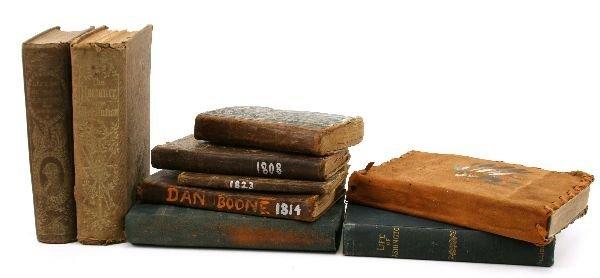 RARE BOOK LOT BOONE JACKSON WASHINGTON 1800 JOURN