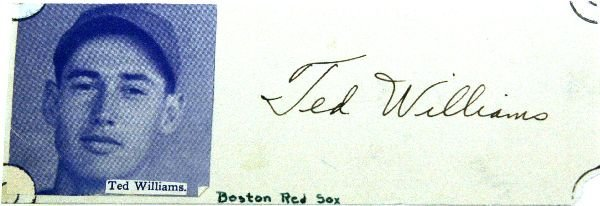 TED WILLIAMS AUTOGRAPH WITH PHOTO
