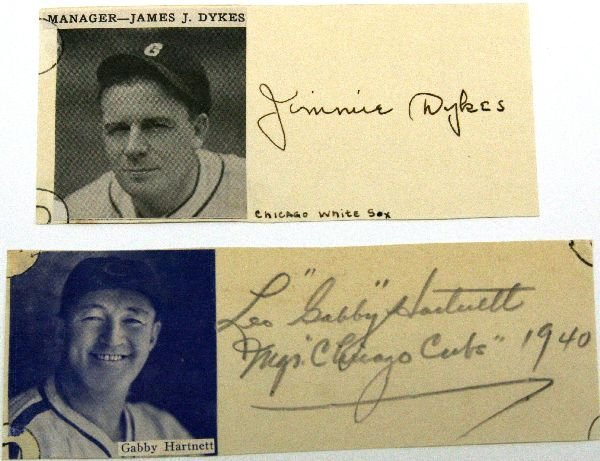 LOT CHICAGO MLB AUTOGRAPHS WITH PHOTOS