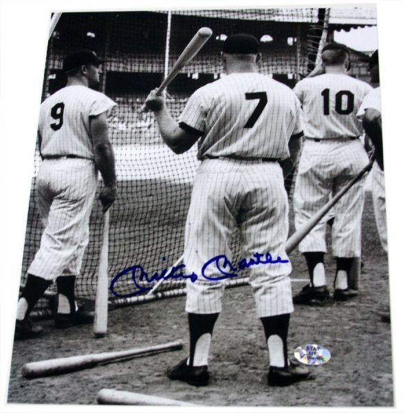 MICKEY MANTLE AUTOGRAPHED 8X10 PHOTO