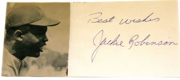 JACKIE ROBINSON AUTOGRAPH WITH PHOTO