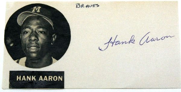 HANK AARON AUTOGRAPH WITH PHOTO