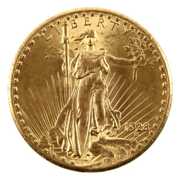 1928 ST. GAUDENS DOUBLE EAGLE GOLD COIN