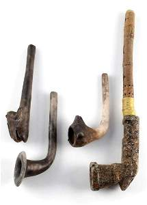 WOODLAND MISSISSIPPIAN PERIOD PLATFORM & CLAY PIPE