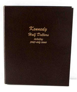 SET OF KENNEDY HALF DOLLARS IN LEATHER BOOK