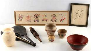 GENERAL ANTIQUES LOT POTTERY OPIUM SCALE ETC