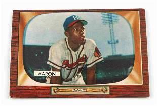 1955 HANK AARON #179 BOWMAN BASEBALL CARD