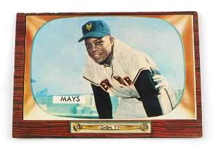 1955 WILLIE MAYS #184 BOWMAN BASEBALL CARD