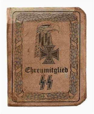 WWII GERMAN THIRD REICH SS AUSWEIS ADOLF HITLER