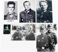 WWII GERMAN SIGNED PHOTOS OF IRON CROSS RECIPIENTS