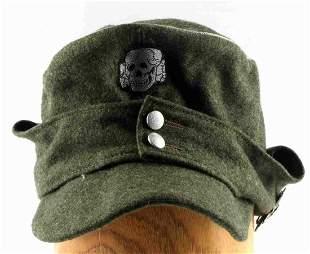 WWII GERMAN WAFFEN SS MOUNTAIN TROOPS FIELD CAP