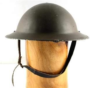 WWI US ARMY M1917 DOUGHBOY BRODIE STEEL HELMET