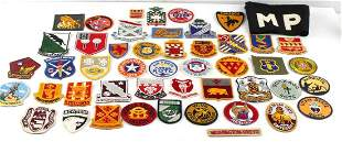 WWII US MILITARY MIXED PATCH LOT OF 48 MP ARMBAND