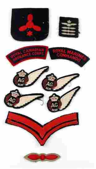 10 MULTI CONFLICT ROYAL CANADIAN AIR FORCE PATCHES