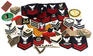 WWII MILITARY US NAVY & USMC PATCH LOT OF 55