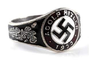 WWII GERMAN THIRD REICH 1933 HITLER ELECTION RING