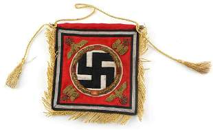 WWII GERMAN ADOLF HITLER STANDARTE DESK FLAG