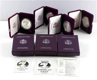 1986 & 1990 AMERICAN SILVER EAGLE PROOF COIN LOT