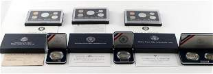 3 SILVER PROOF 3 COMMEMORATIVE COIN SET LOT