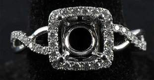 18 KT GOLD DIAMOND ENGAGEMENT RING SETTING BLANK