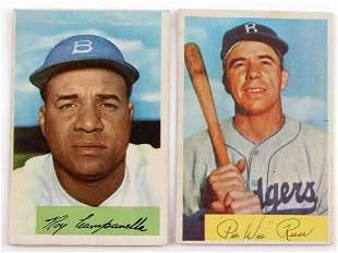 2 GOLDEN AGE 1954 BOWMAN BASEBALL CARDS REESE