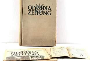 1936 BERLIN OLYMPICS OLYMPIA ZEITUNG NEWSPAPER LOT