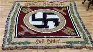 WWII GERMAN REICH FUHRER STANDARTE TAPESTRY