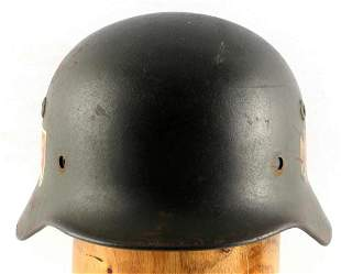 WWII GERMAN THIRD REICH M-42 DOUBLE DECAL HELMET