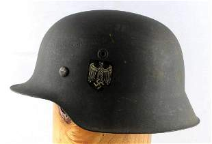 WWII GERMAN THIRD REICH M-42 HEER DECAL HELMET