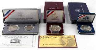 US MINT COMMEMORATIVE SILVER DOLLAR PROOF COIN LOT