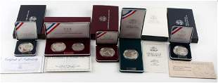 5 DIFFERENT COMMEMORATIVE COIN SETS OLYMPIC KOREA