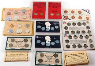 COIN SET COLLECTION WAR NICKELS SILVER PROOF SETS