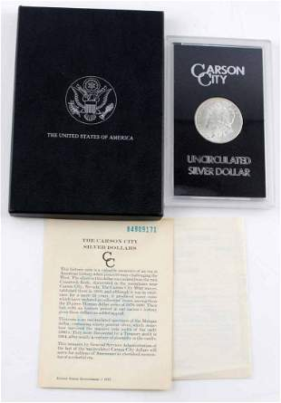1884 CC CARSON CITY MORGAN SILVER DOLLAR GSA UNC