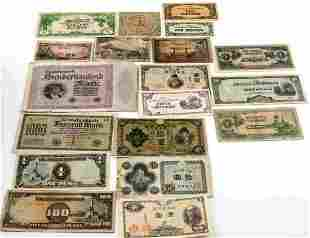 WWII JAPANESE GOVT CURRENCY NOTES AXIS BILLS
